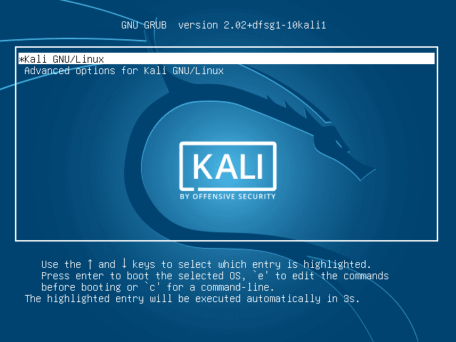 forgot kali linux username and password