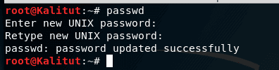 kali linux root password