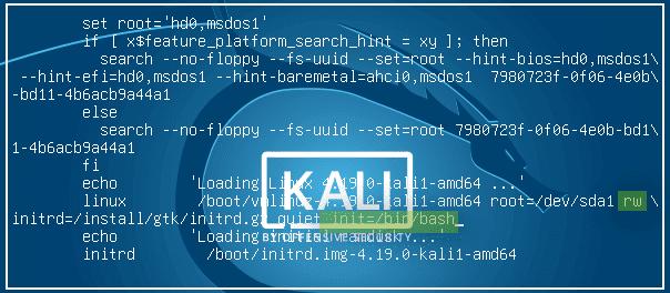 linux password reset