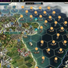 Civilization 5 Into the Renaissance Celts Deity Attacking Dutch Fleet