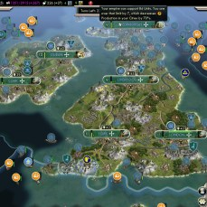 Civilization 5 Into the Renaissance Celts Deity Celtic Pirate Fleet grows