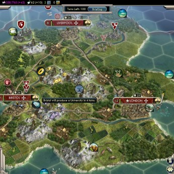 Civilization 5 Into the Renaissance England Deity Build Universities in all cities