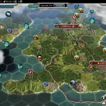 Civilization 5 Into the Renaissance England Deity City on Ireland Economy drain