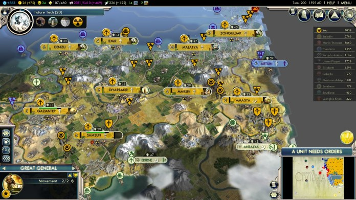 Civilization 5 Into the Renaissance Yokes on the Mongols - Russian Turkey