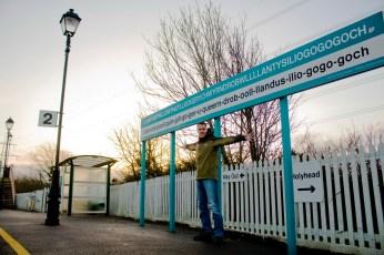 Longest Name Ever Llanfairpwllgwyngyll Train Station
