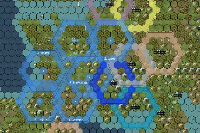 Civilization 5 Into the Renaissance France Deity City Positions