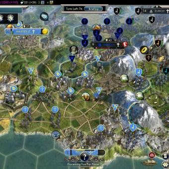 Civilization 5 Into the Renaissance France Deity Liberating Southern France