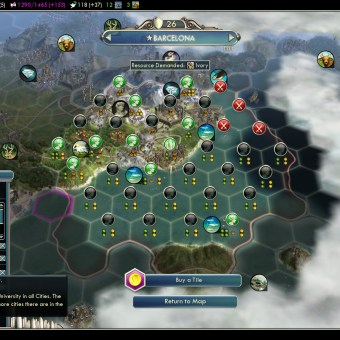 Civilization 5 Into the Renaissance Spain Deity National Wonders in Barcelona
