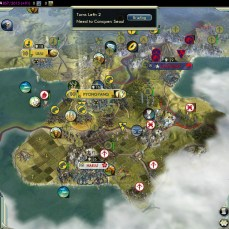 Civilization 5 Samurai Invasion of Korea Manchu Deity Fail Pyongyang captured too late