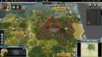 Civilization 5 Into the Renaissance Russia Deity - Encirclement of the Mongols