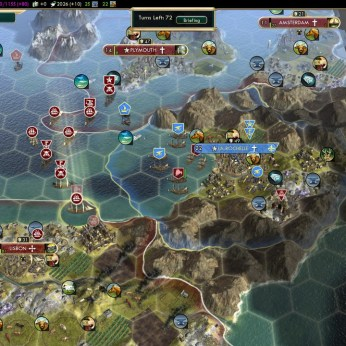 Civilization 5 Conquest of the New World Tea and Crumpets for Everyone - Preparing for France