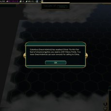 Civilization 5 Conquest of the New World Spain Deity - Columbus finding China