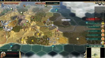 Civilization 5 Conquest of the New World Aztecs Deity 3b - Same bribe and DOW procedure vs Spain