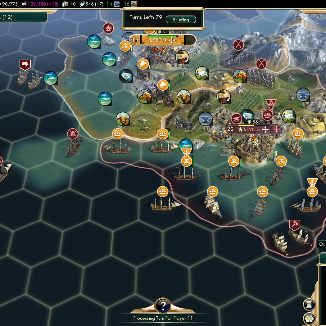 Civilization 5 Conquest of the New World Netherlands Deity - Portugal down