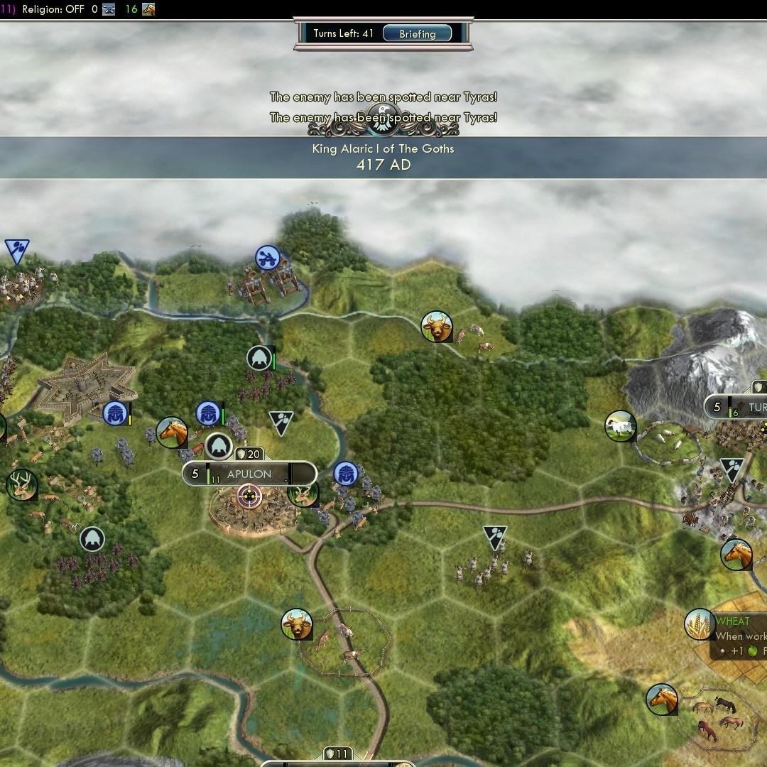 Civilization 5 Fall of Rome Goths Deity - Citadel of Apulon