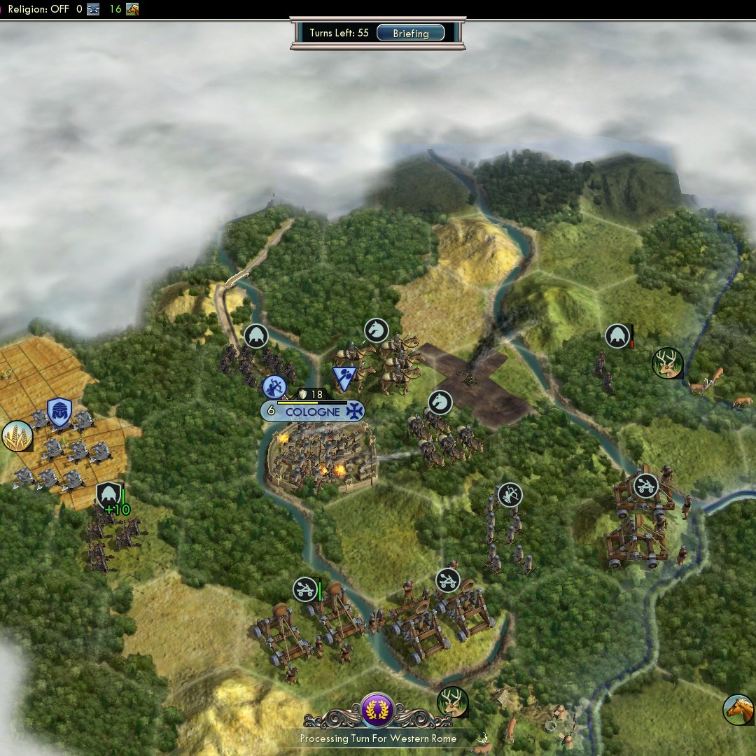 Fall of Rome - Goths Deity 2nd fail invading Franks - bombing Cologne