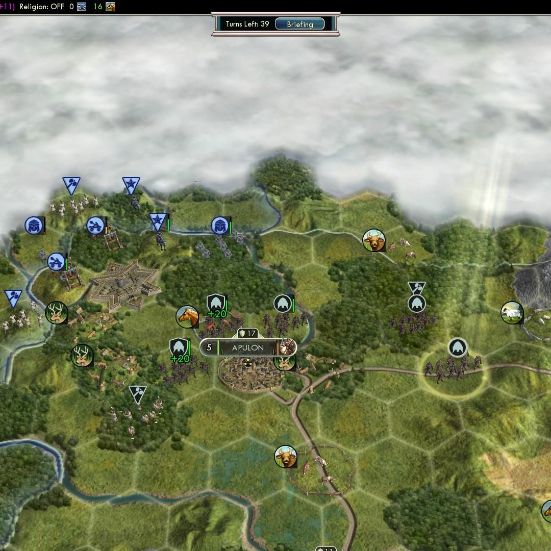 Civilization 5 Fall of Rome Goths Deity - Apulon secured