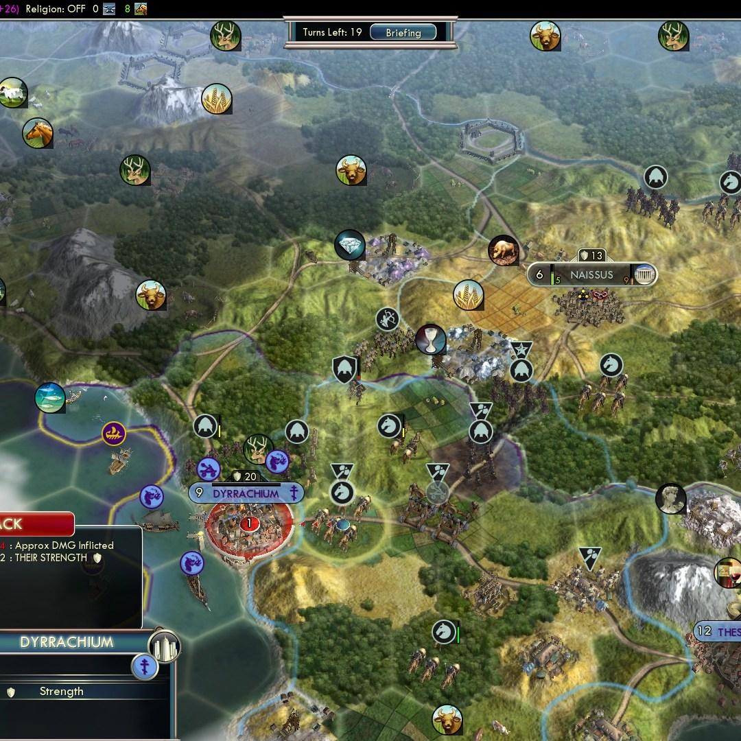 Civilization 5 Fall of Rome Goths Deity - Dyrrachium falls