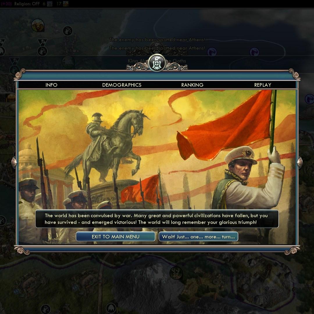 Civilization 5 Fall of Rome Goths Deity - Goth Victory