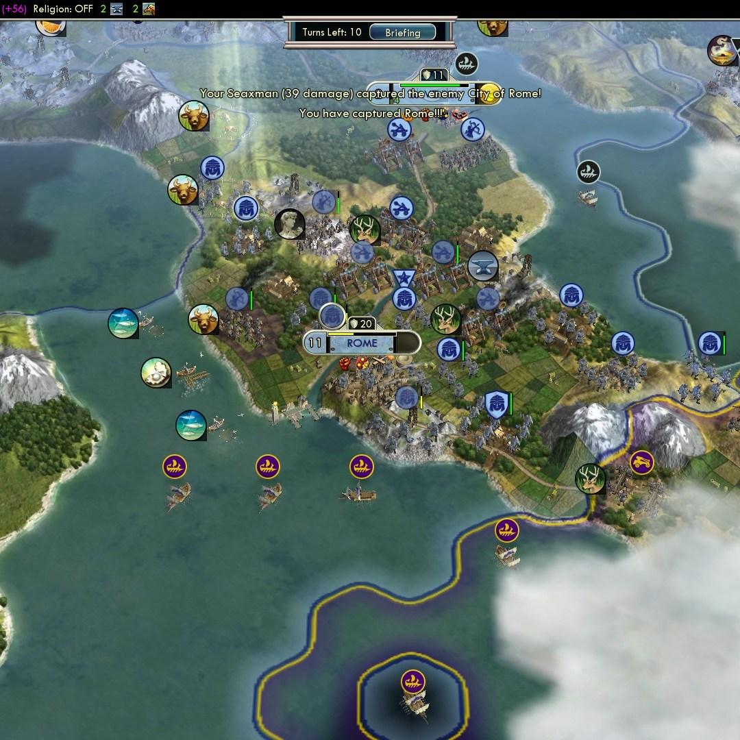 Fall of Rome Franks Deity 60 Rome captured