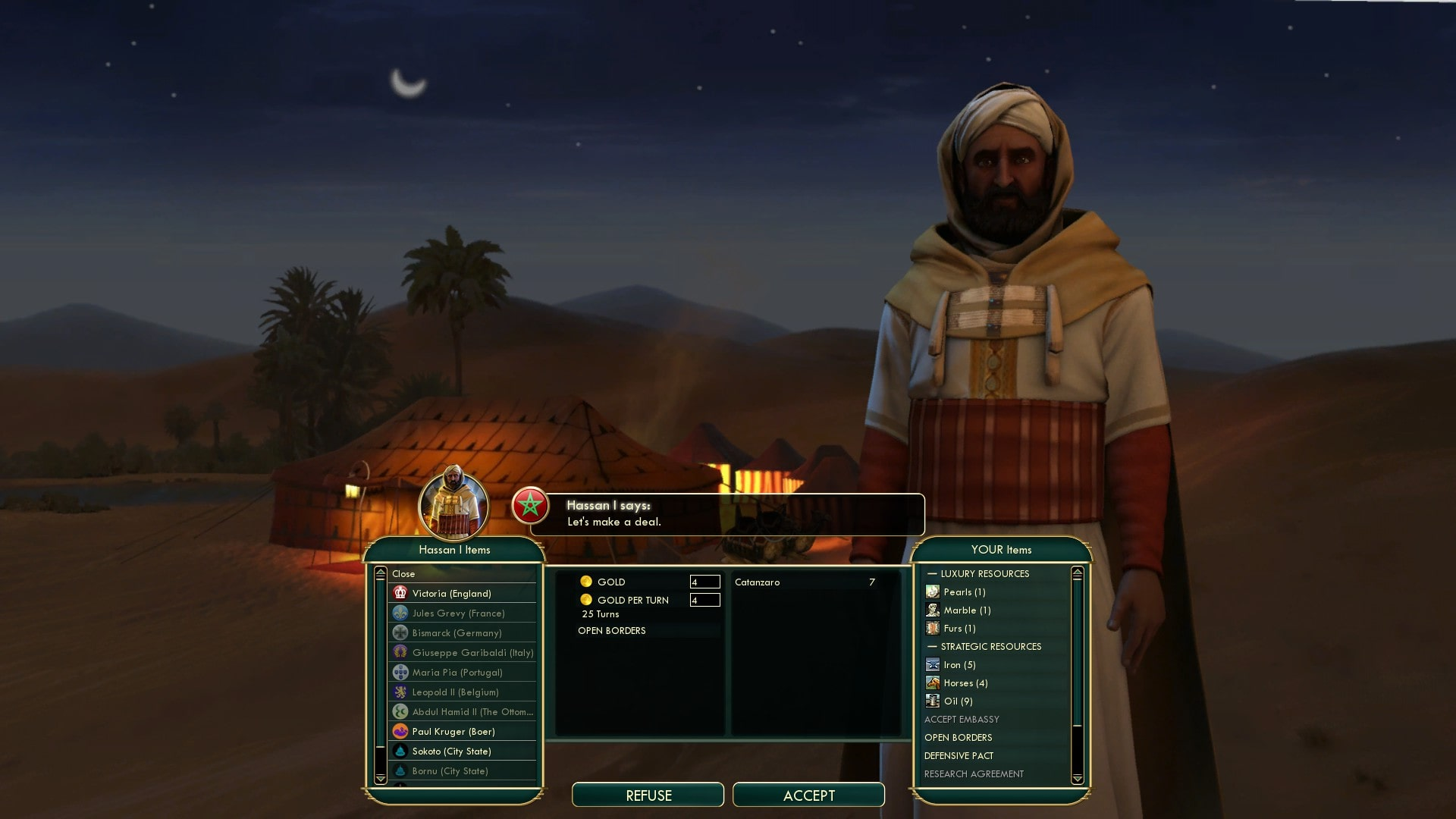 Civilization 5 Scramble for Africa Egypt Deity - Get Open Borders first