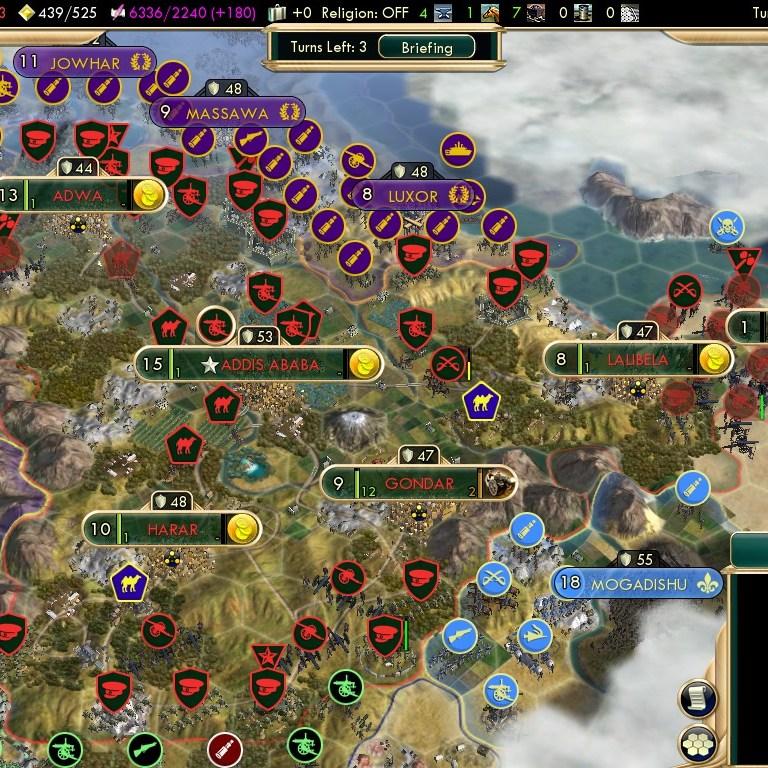 Civilization 5 Scramble for Africa Ethiopia Deity - Ethiopian Bulwark