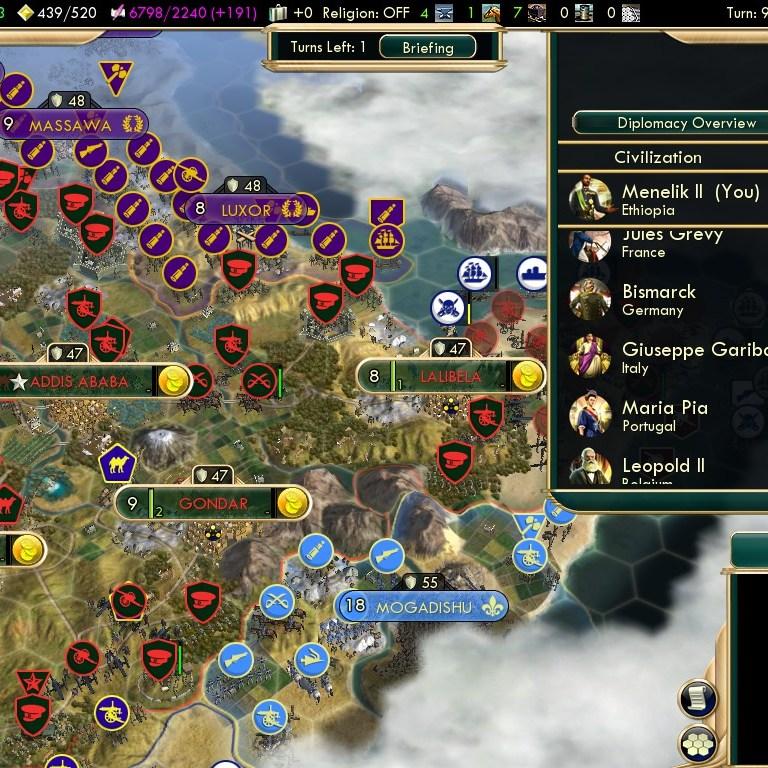 Civilization 5 Scramble for Africa Ethiopia Deity - Diplomacy