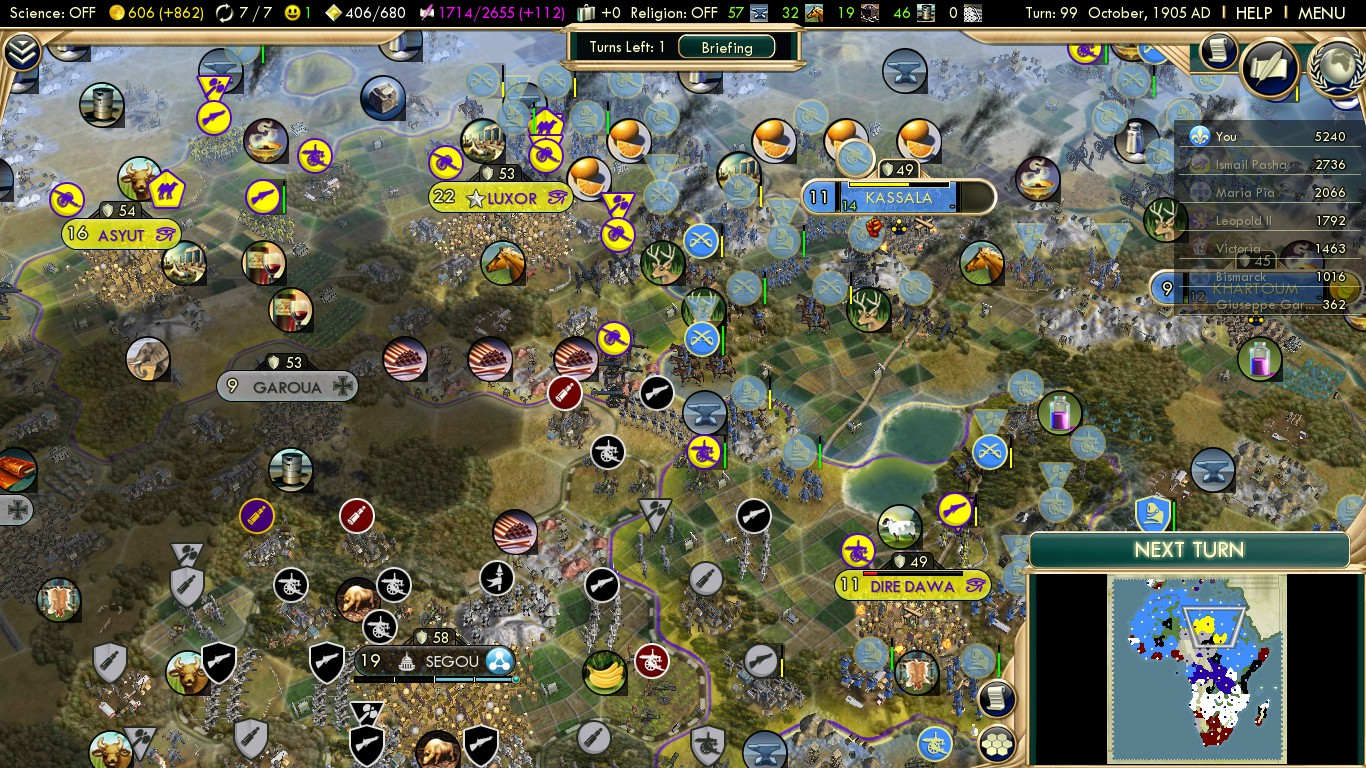 Civilization 5 Scramble for Africa France Deity - Finish Egypt after Ethiopia