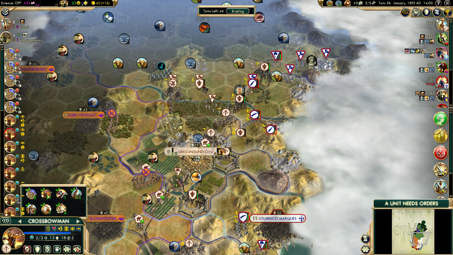 Civilization 5 Scramble for Africa Zulu Deity - Reload and capture those settlers