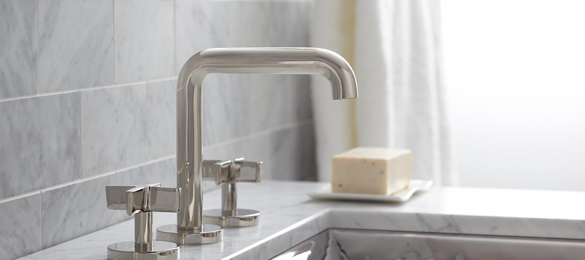 one deck mounted bridge kitchen faucet lever handles p25202 lv kitchen faucets kallista