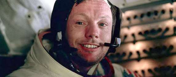 Neil Armstrong after walking on the Moon - July 1969