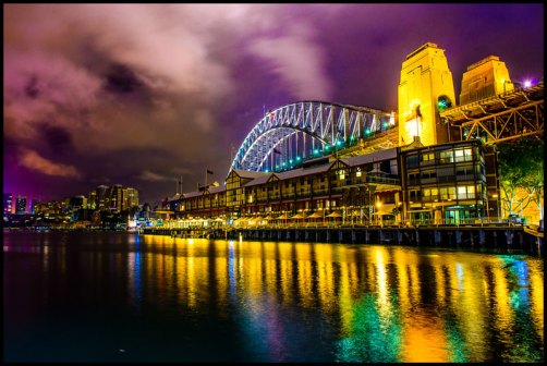 Sydney Harbour Bridge nightscape cityscape new south wales australia dan kalma photography