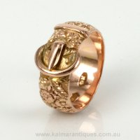 Buy Antique rose gold buckle ring Sold Items, Sold Rings ...