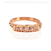 Buy Antique 18ct rose gold antique engagement ring Sold ...