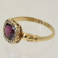 Buy Early Victorian garnet ring. Sold Items, Sold Rings