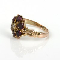 Buy Antique Victorian era garnet and pearl ring Sold Items ...