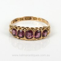 Buy 15ct antique garnet ring made in 1899 Sold Items, Sold ...