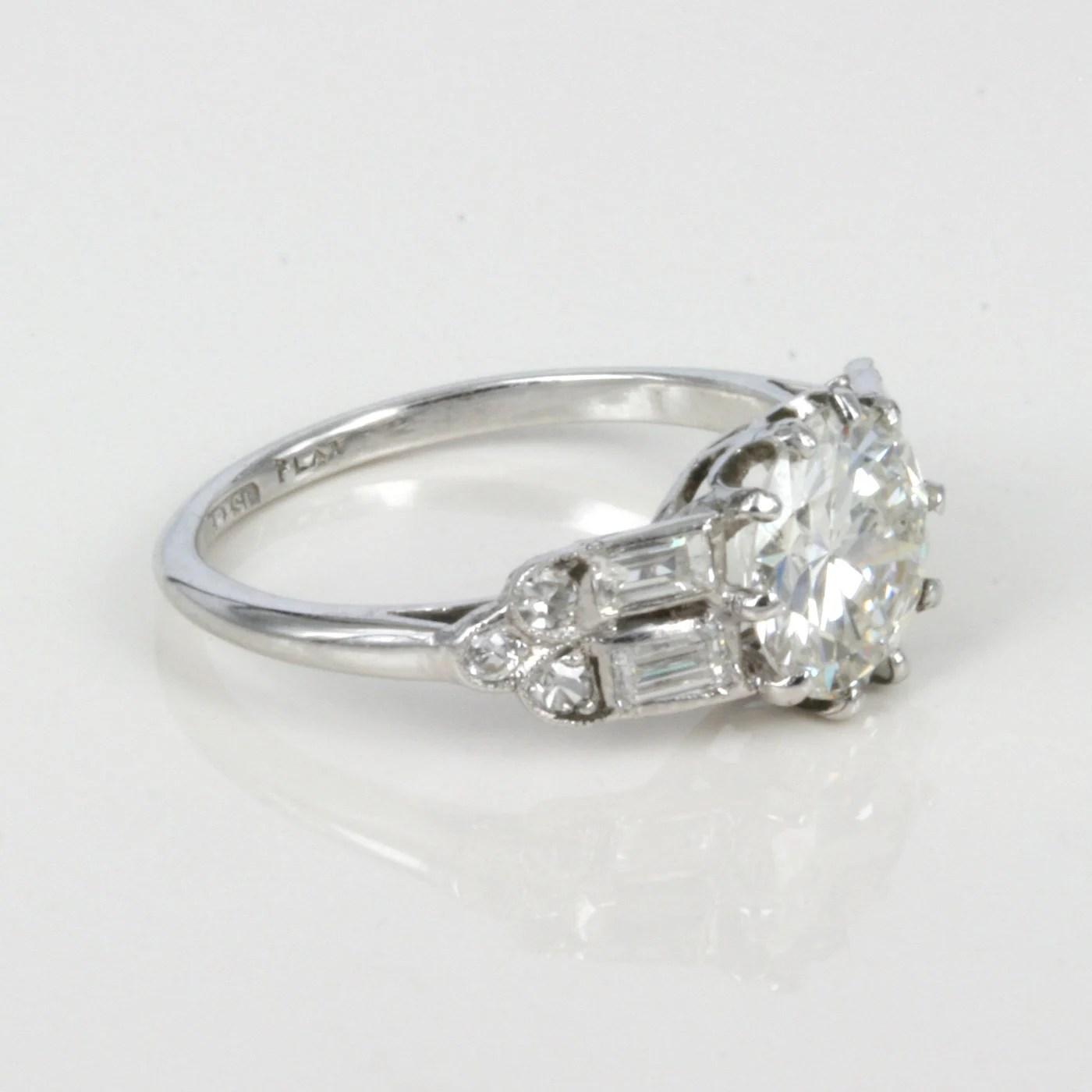 Buy Art Deco Diamond Ring In Platinum Sold Items Sold