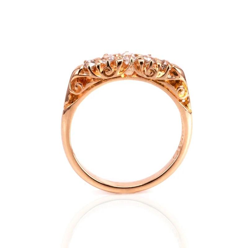 Buy Antique 18ct rose gold antique engagement ring Sold