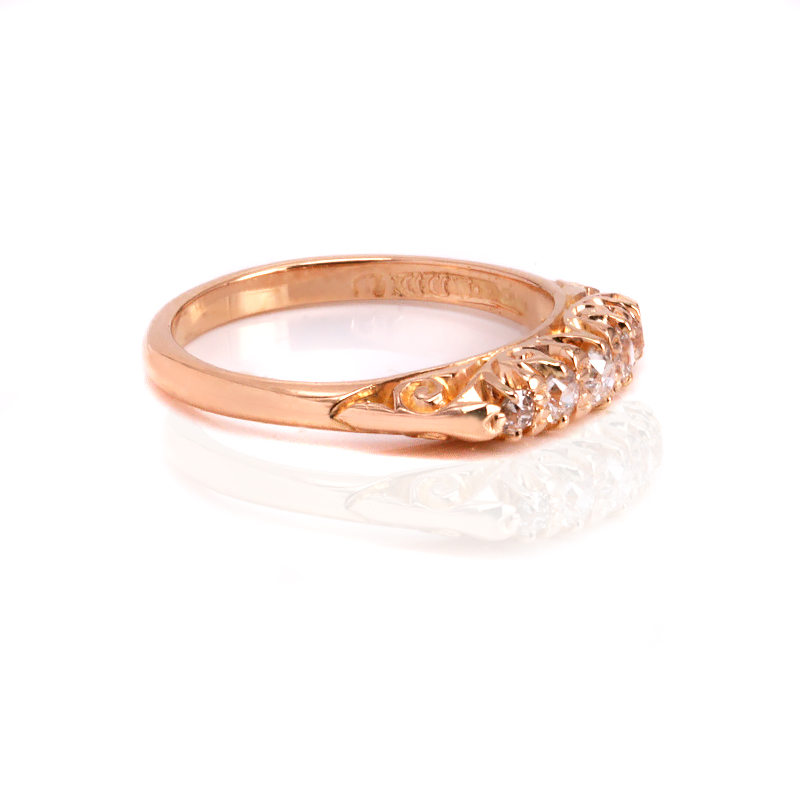 Buy Antique 18ct rose gold antique engagement ring Sold