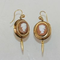 Buy Antique Victorian cameo earrings. Sold Items, Sold