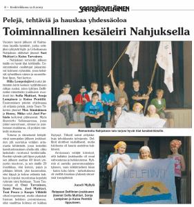 Kesäleiri 3.-4.8.2009