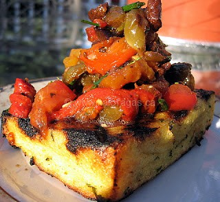 Grilled Polenta With Capsicum Salad