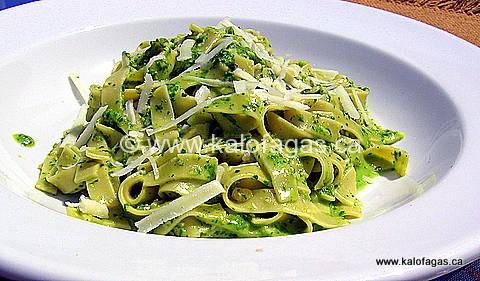 Pasta With Wild Leek Pesto