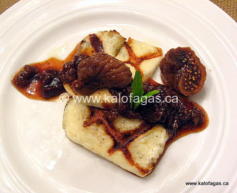 Grilled Halloumi With a Fig-Ouzo Sauce
