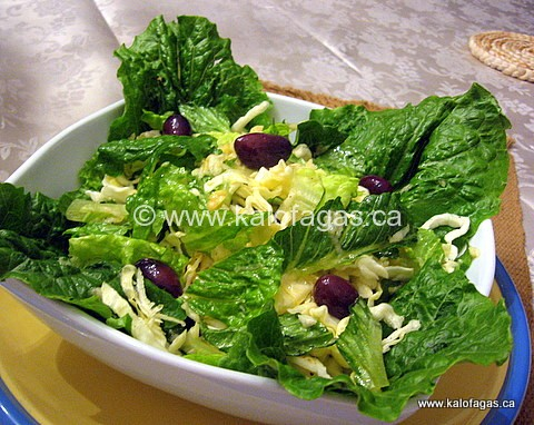 Salad of Rocket, Cabbage and Apple