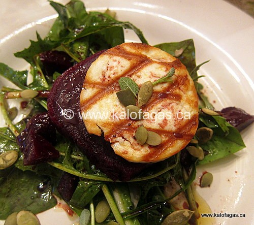 Grilled Manouri & Roasted Beet Salad