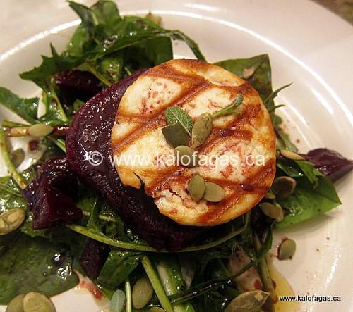 Grilled Manouri & Roasted Beet Salad
