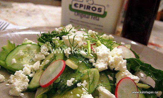 Radish and Cucumber Salad With Feta