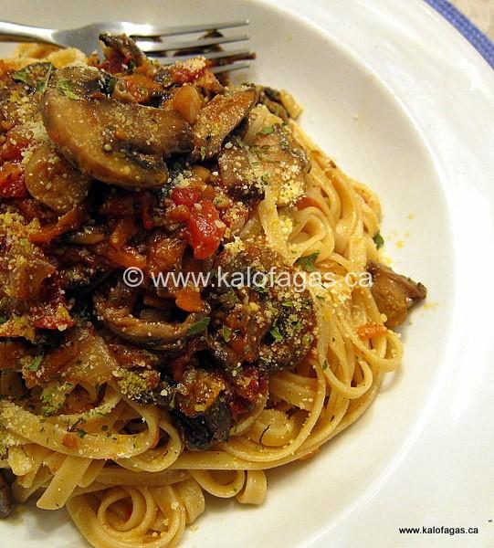 Fettucine With Mushroom Bolognese